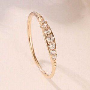 NWOT 14K GF Rose Gold Baguette Diamond Ring